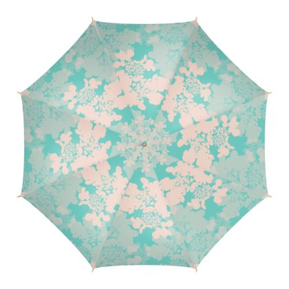 Hydrangea (Blue & Pale Pink) - Umbrella