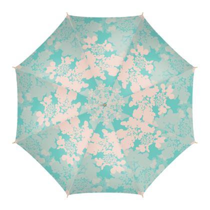 Hydrangea (Blue & Pale Pink) - Umbrella