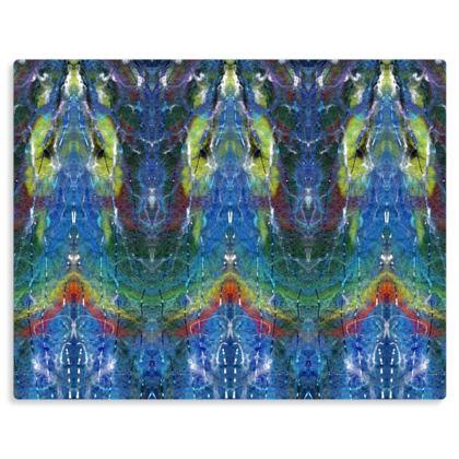 Chakra Temple of Light Meditation Art Print on Metal Panel