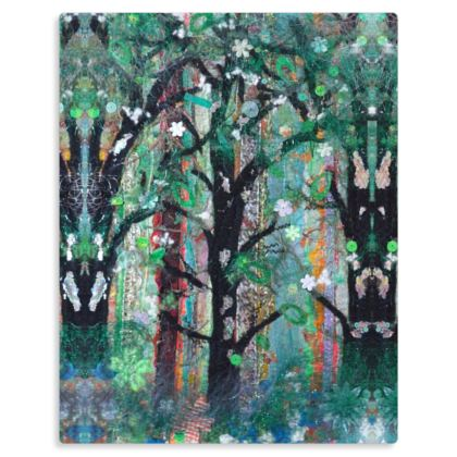 Into the Green Wood Premium Art Print on Metal Panel