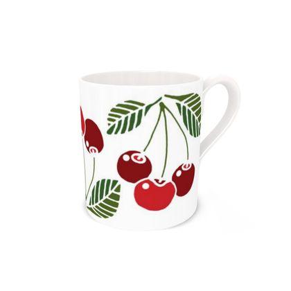 Cherries Bone China Mug