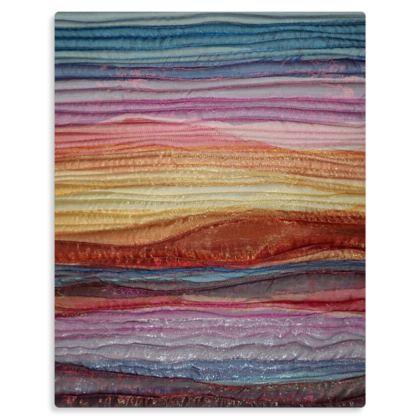 Quilted Landscape Premium Art Print Metal Panel