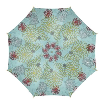 Chrysanthemum (Blue) - Umbrella