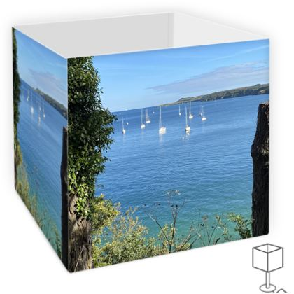 Lamp shade - Summer on the Helford