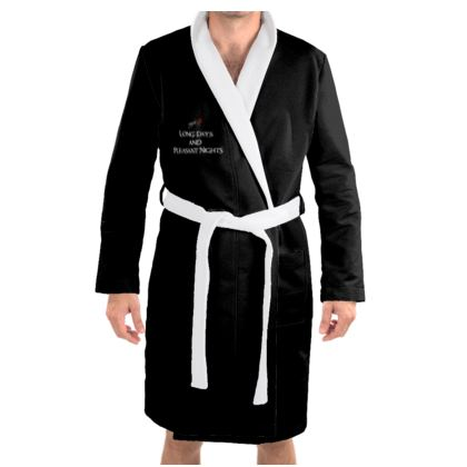 Dressing Gown - Long Days and Pleasant Nights (White text)