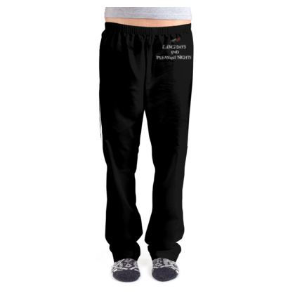 Ladies Pyjama Bottoms - Long Days and Pleasant Nights (White text)