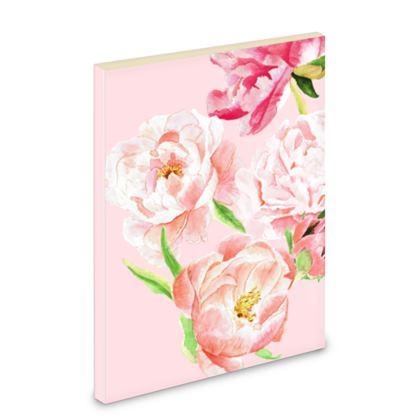 Notebook - Pink peonies