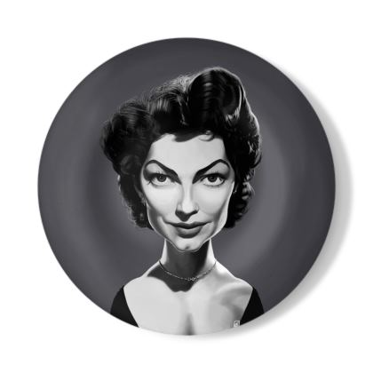 Ava Gardner Celebrity Caricature Decorative Plate