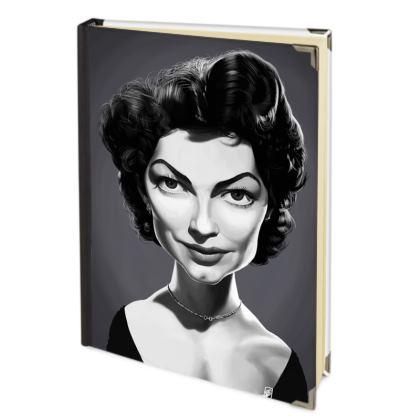 Ava Gardner Celebrity Caricature 2018 Deluxe Diary