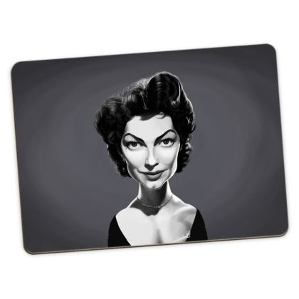 Ava Gardner Celebrity Caricature Large Placemats