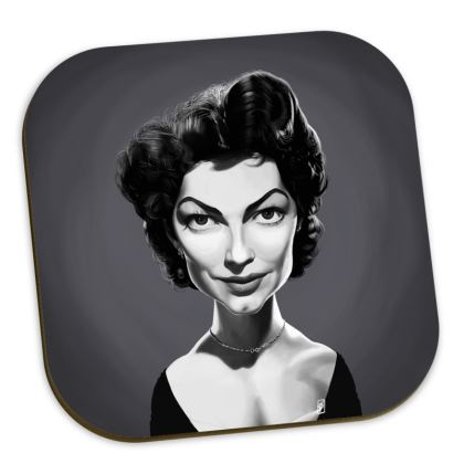 Ava Gardner Celebrity Caricature Coasters