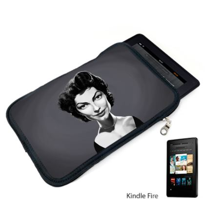 Ava Gardner Celebrity Caricature Kindle Case