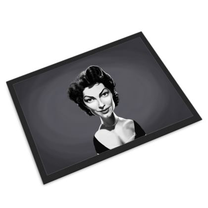 Ava Gardner Celebrity Caricature Door Mat