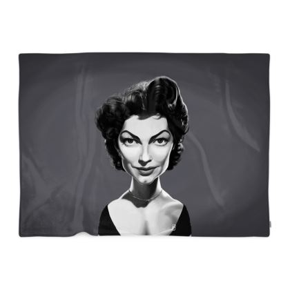 Ava Gardner Celebrity Caricature Blanket