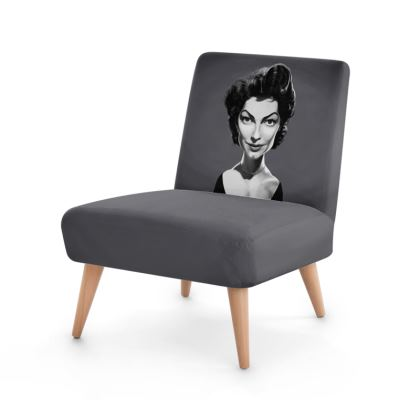 Ava Gardner Celebrity Caricature Occasional Chair