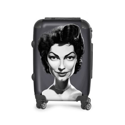 Ava Gardner Celebrity Caricature Suitcase
