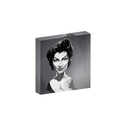 Ava Gardner Celebrity Caricature Acrylic Photo Blocks
