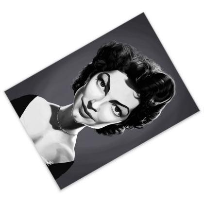 Ava Gardner Celebrity Caricature Postcard