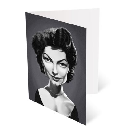 Ava Gardner Celebrity Caricature Occasions Cards