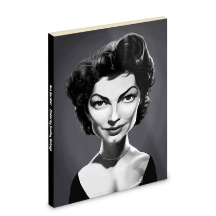 Ava Gardner Celebrity Caricature Pocket Note Book