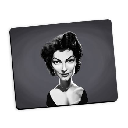Ava Gardner Celebrity Caricature Mouse Mat