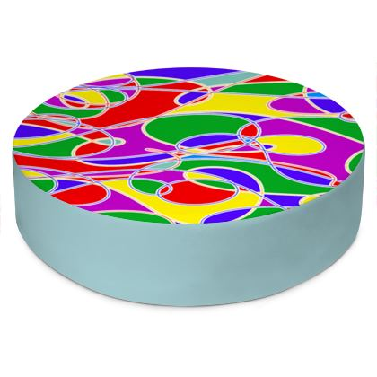Round Floor Cushion - Use Anywhere, Ideal Extra Seating