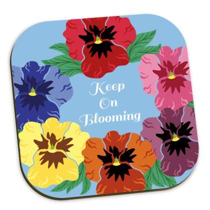 Keep On Blooming [Sky Blue] Coaster