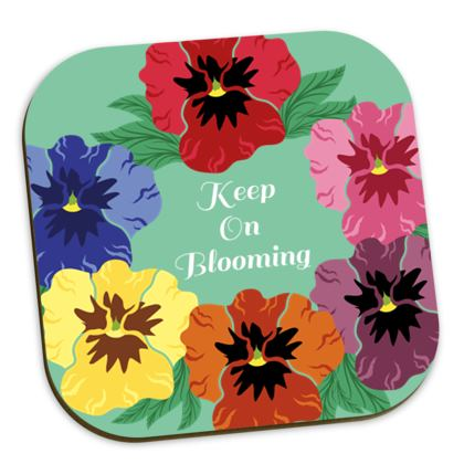 Keep On Blooming [Light Mint] Coaster