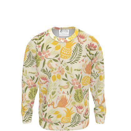 Sweatshirt tropical jaune vitaminé