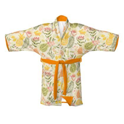 Kimono tropical jaune vitaminé