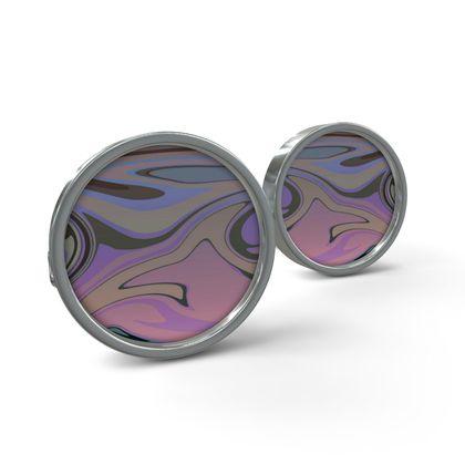 Cufflinks - Marble Rainbow 5