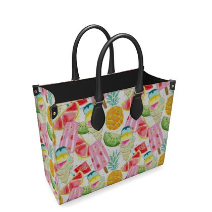 icecream leather shopper bag