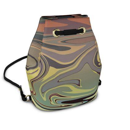 Bucket Backpack - Marble Rainbow 1