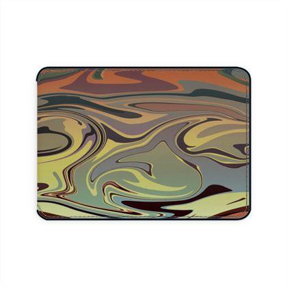 Card Holder - Marble Rainbow 1