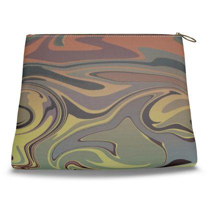 Clutch Bag - Marble Rainbow 1