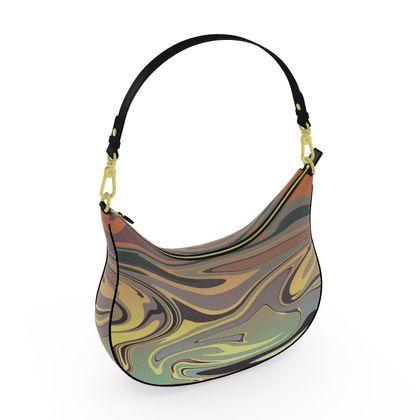 Curve Hobo Bag - Marble Rainbow 1