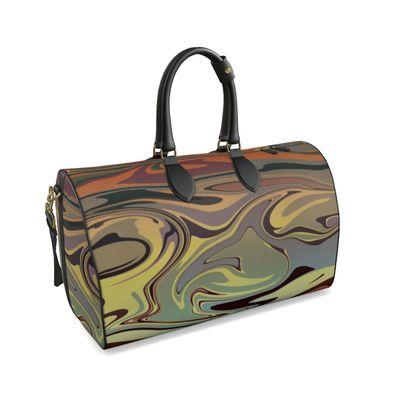 Large Duffle Bag - Marble Rainbow 1