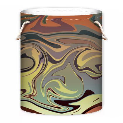 Laundry Bag - Marble Rainbow 1