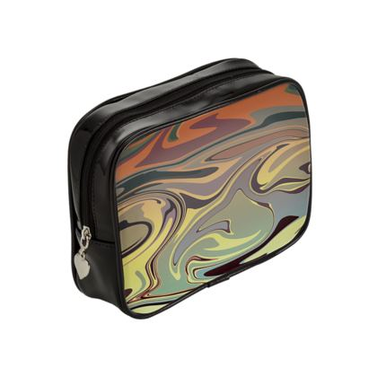 Make Up Bags - Marble Rainbow 1