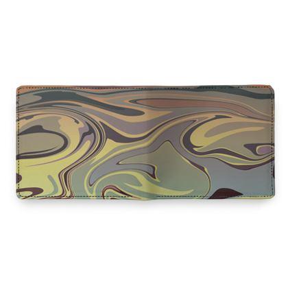 Mens Wallet - Marble Rainbow 1