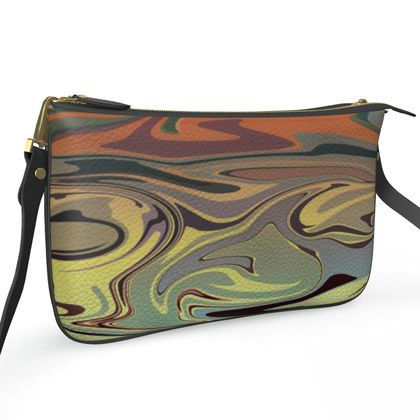 Pochette Double Zip Bag - Marble Rainbow 1