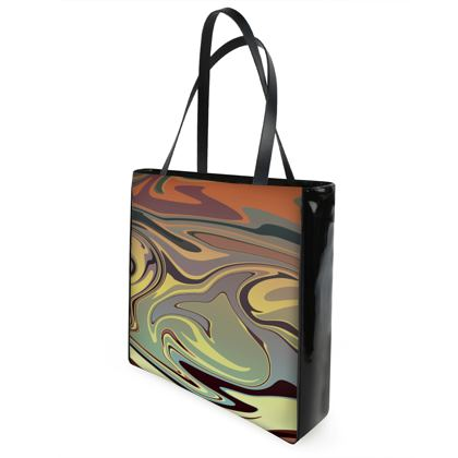 Shopper Bags - Marble Rainbow 1