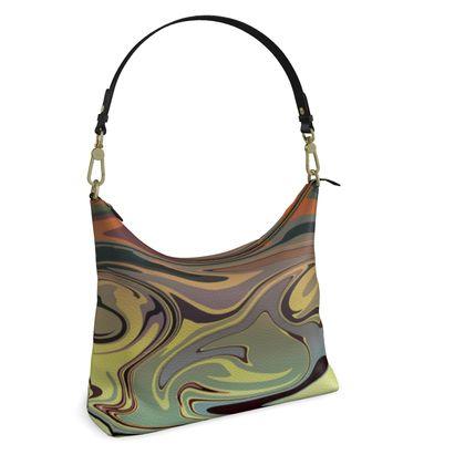Square Hobo Bag - Marble Rainbow 1