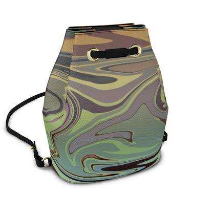 Bucket Backpack - Marble Rainbow 2