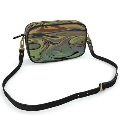 Camera Bag - Marble Rainbow 2