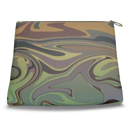 Clutch Bag - Marble Rainbow 2