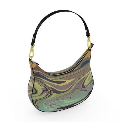 Curve Hobo Bag - Marble Rainbow 2