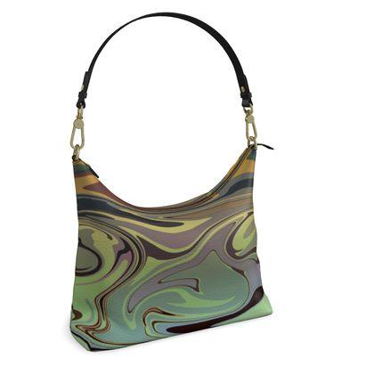 Square Hobo Bag - Marble Rainbow 2