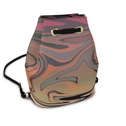 Bucket Backpack - Marble Rainbow 3