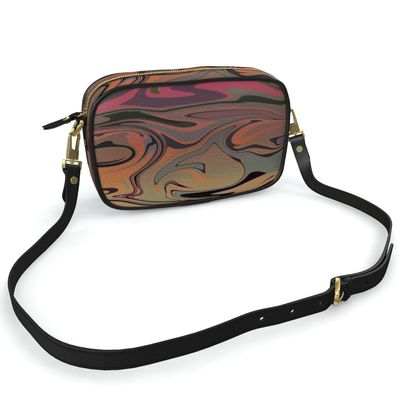 Camera Bag - Marble Rainbow 3